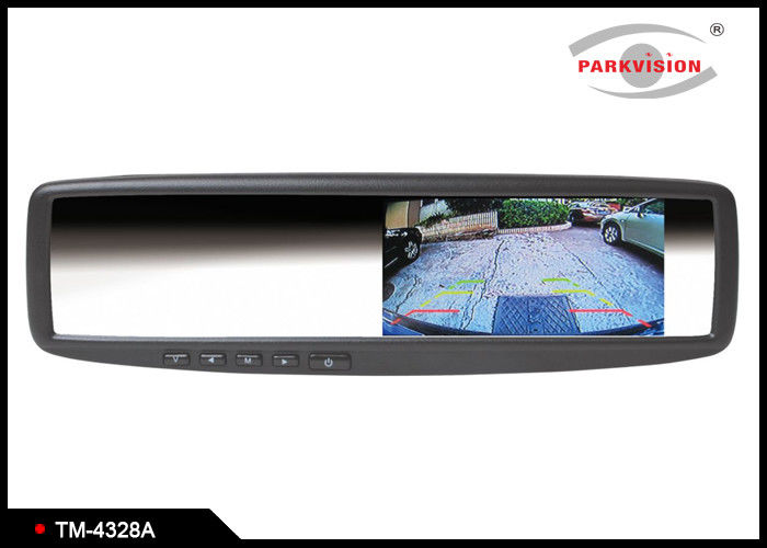 Full Mirror Appearance Clip On Rear View Mirror , Rear View Mirror With LCD Screen
