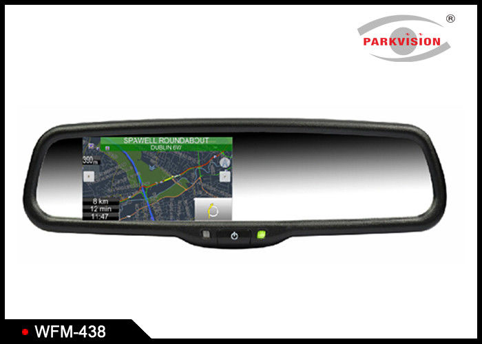 Wireless 4.3 Inch TFT LCD Rear View Mirror Navigation System Backup Camera